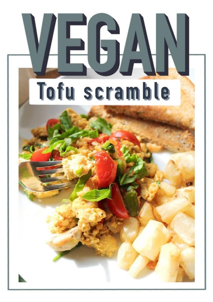 vegan breakfast/tofu scramble/easy/healthy/plant based/dairy free/egg free