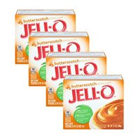 JELL-O Jello Butterscotch Instant Pudding & Pie Filling- 3.4 Oz (4-Pack)