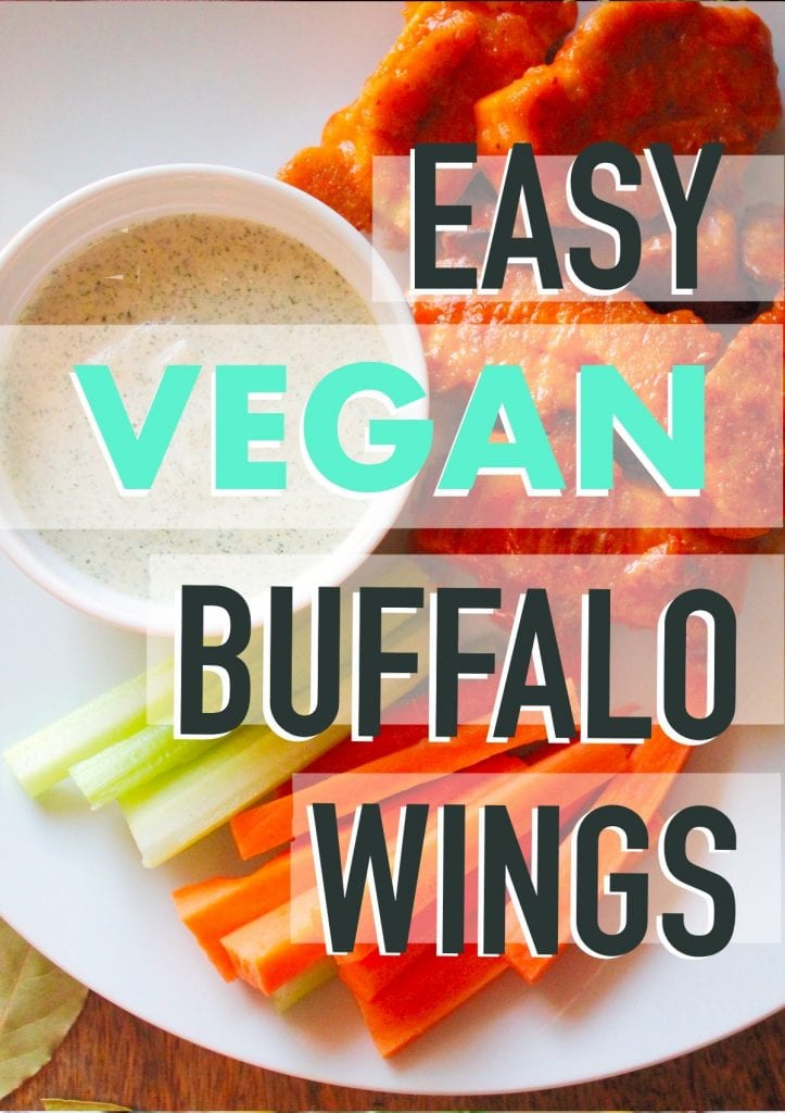 vegan buffalo wings/chicken wings/plant based/tofu wings