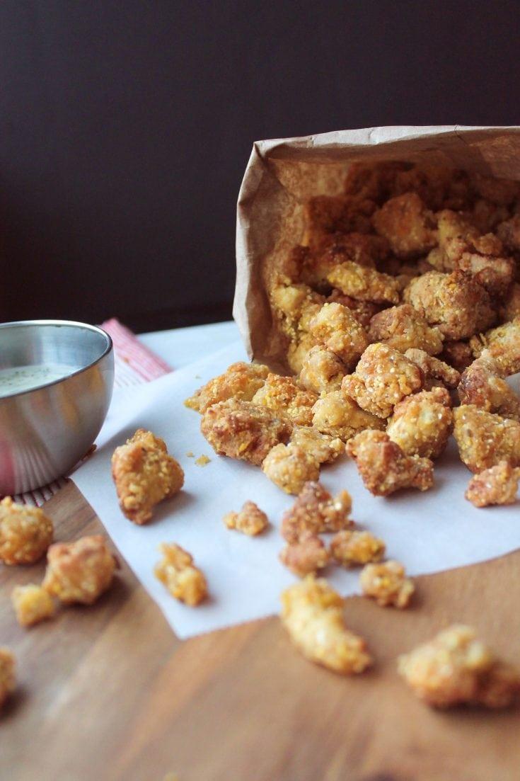 vegan popcorn chicken/vegan tofu chicken/vegan fried chicken